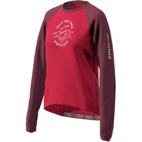 Zimtstern PureFlowz Camiseta Manga Larga Mujer, rojo